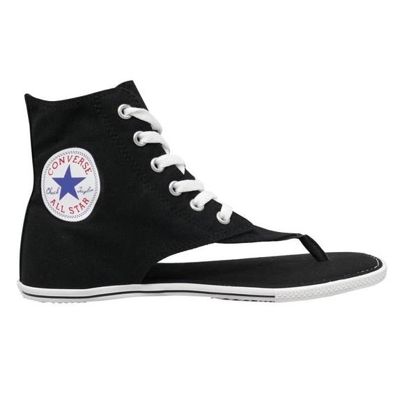 ad278d94cb47cc Converse Shoes - Converse Thong Sandal Gladiator Black Hightop 9
